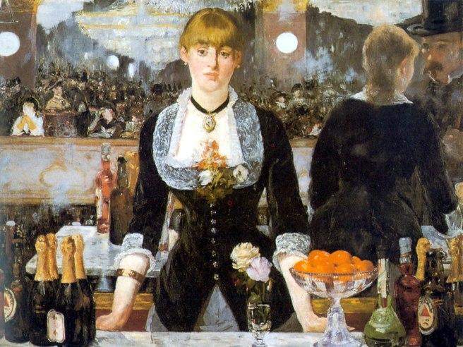 Manet un bar aux Folies Bergere.