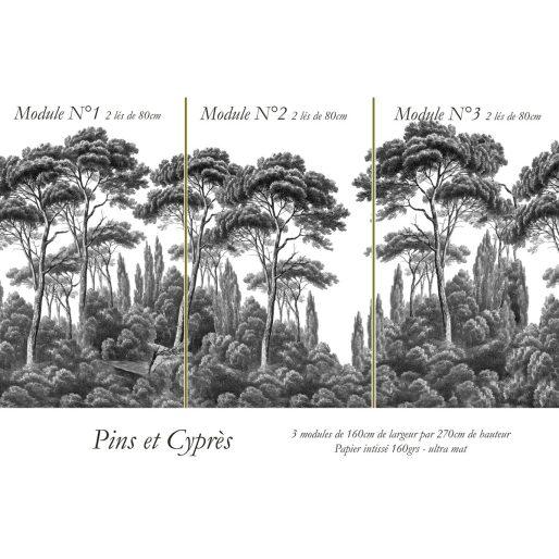 papier-peint-pins-et-cypres-3