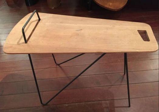 Table scandinave en bois et métal - 1970
