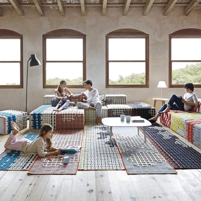 tapis-bandas-orange-gan-rugs...