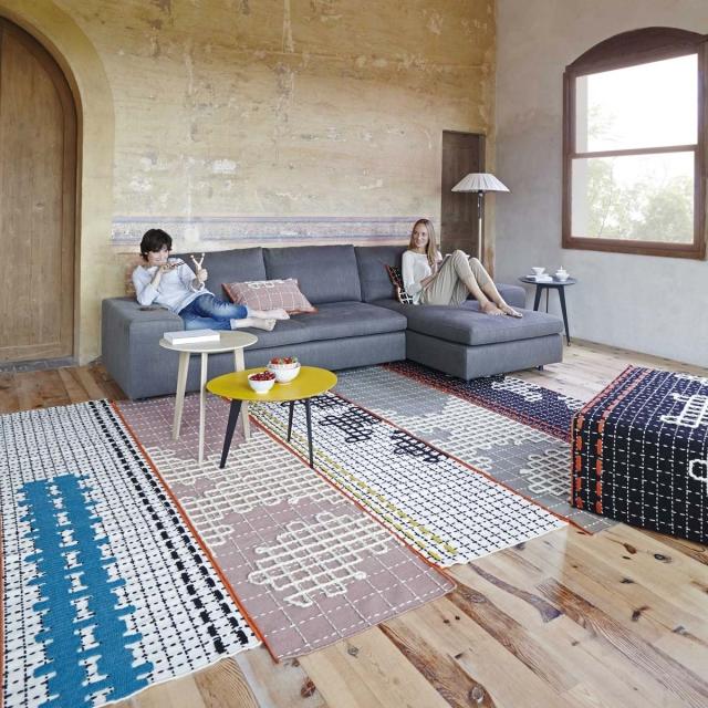 tapis-bandas-turquoise-gan-rugs......