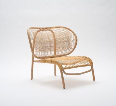 fauteuil design en rotin