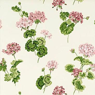 papier-peint-geraniums-thibaut