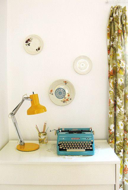 machine à écrire vintage &