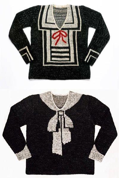 Elsa Schiaparelli trompe l'oeil sweaters!