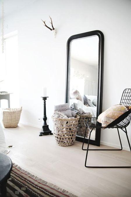 miroir noir déco