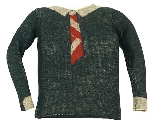 Schiaparelli - Pull Trompe l'oeil 'Cravate' -
