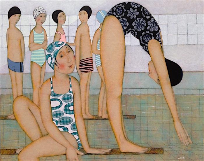 A-la-piscine-Cecile Veilhan.