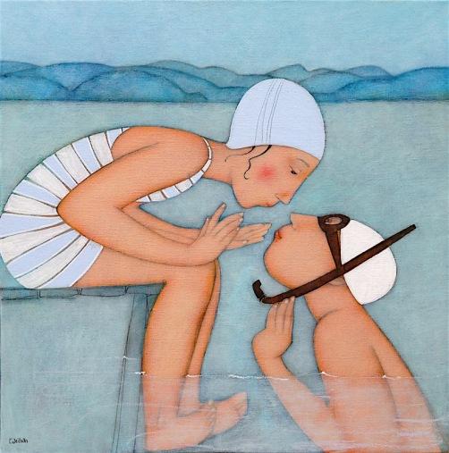 Du-ponton.-60x60-cmA-la-piscine-Cecile Veilhan.