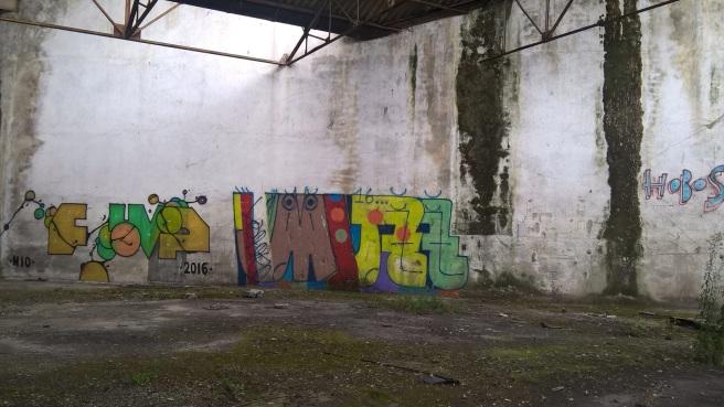 graffitis sur les docks
