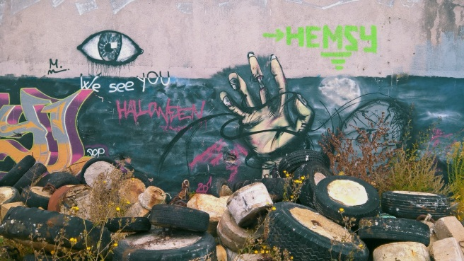 graffiti sur les docks