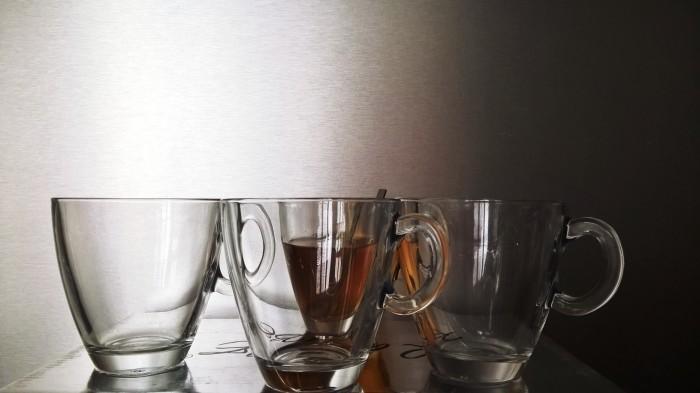Tasses transparentes pas chères