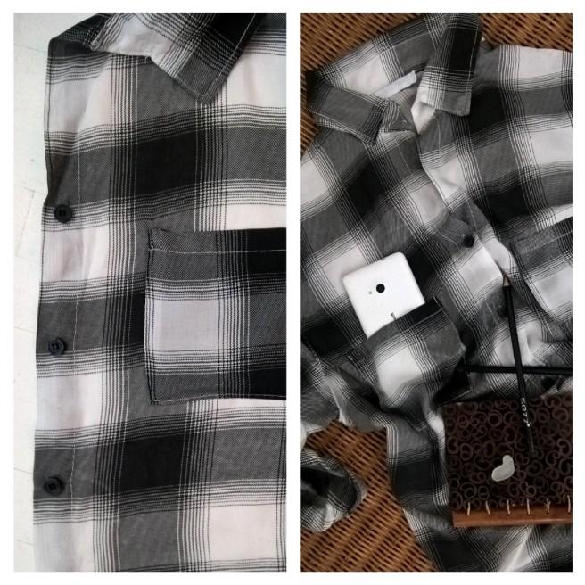 chemise à carreaux noirs
