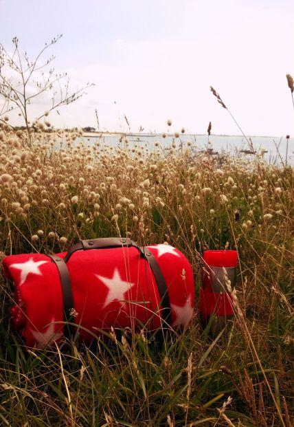 Plaid rouge étoile