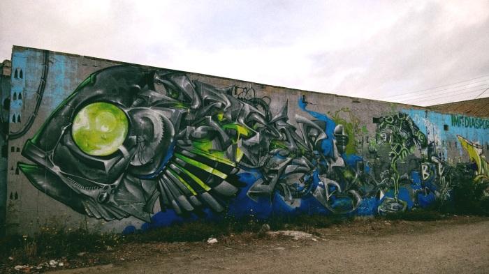 Graffiti des docks de Lorient