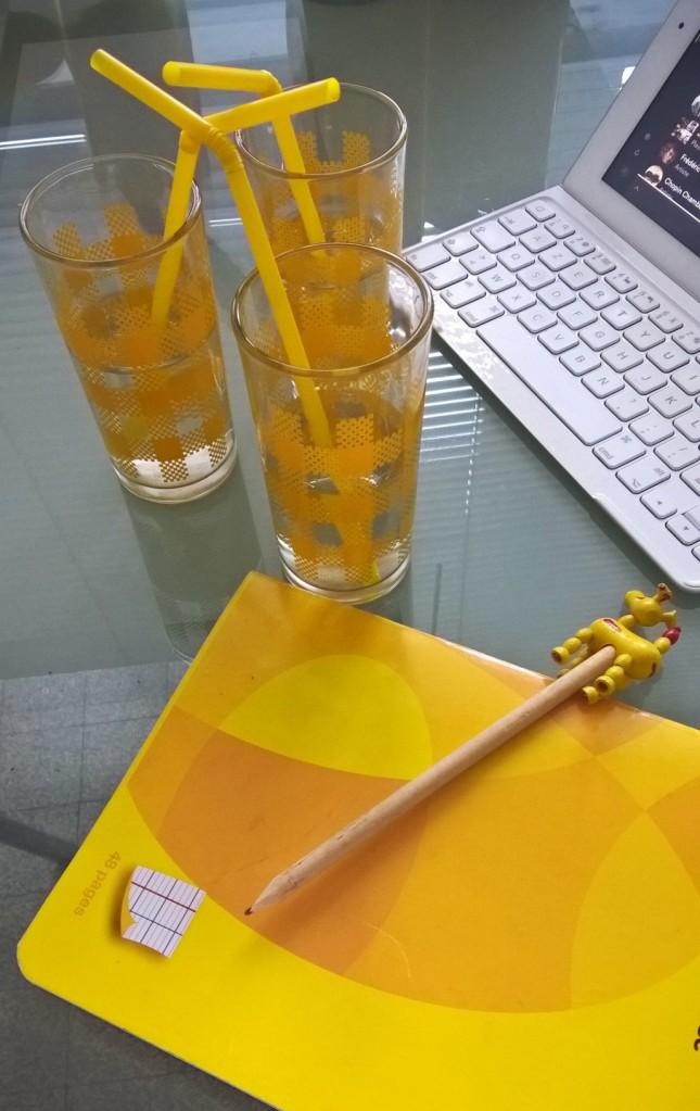 verres jaunes