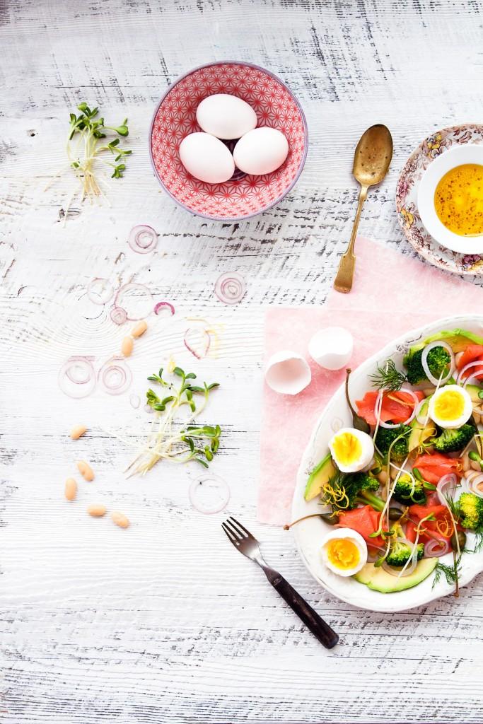 salade d'oeuf au saumon